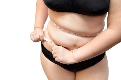 fat woman wear black underwear show fat cellulite